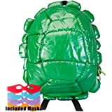 Teenage Mutant Ninja Turtles - Shell Backpack Green With 4 Masks