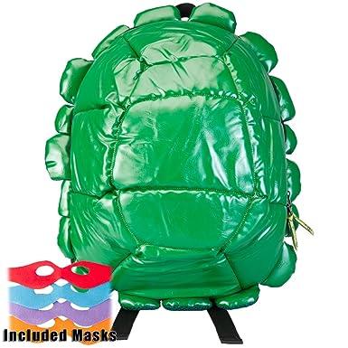 Amazon.com  Teenage Mutant Ninja Turtles - Shell Backpack Green With ... 252c5030a560e