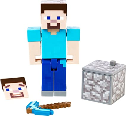 Amazon Com Minecraft 3 25 In Comic Maker Steve Figure
