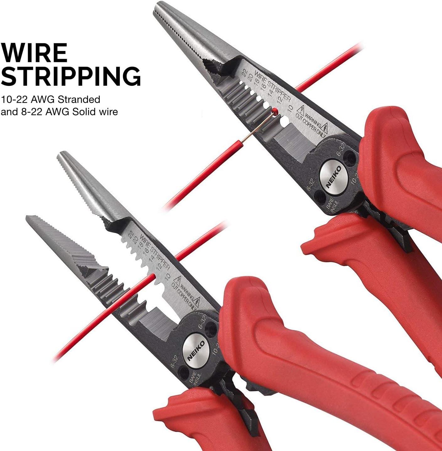 """Neiko 02038A 6-In-1 Wire Service ToolGripper Crimper Stripper Cutter 8-1//2/"""" E"""
