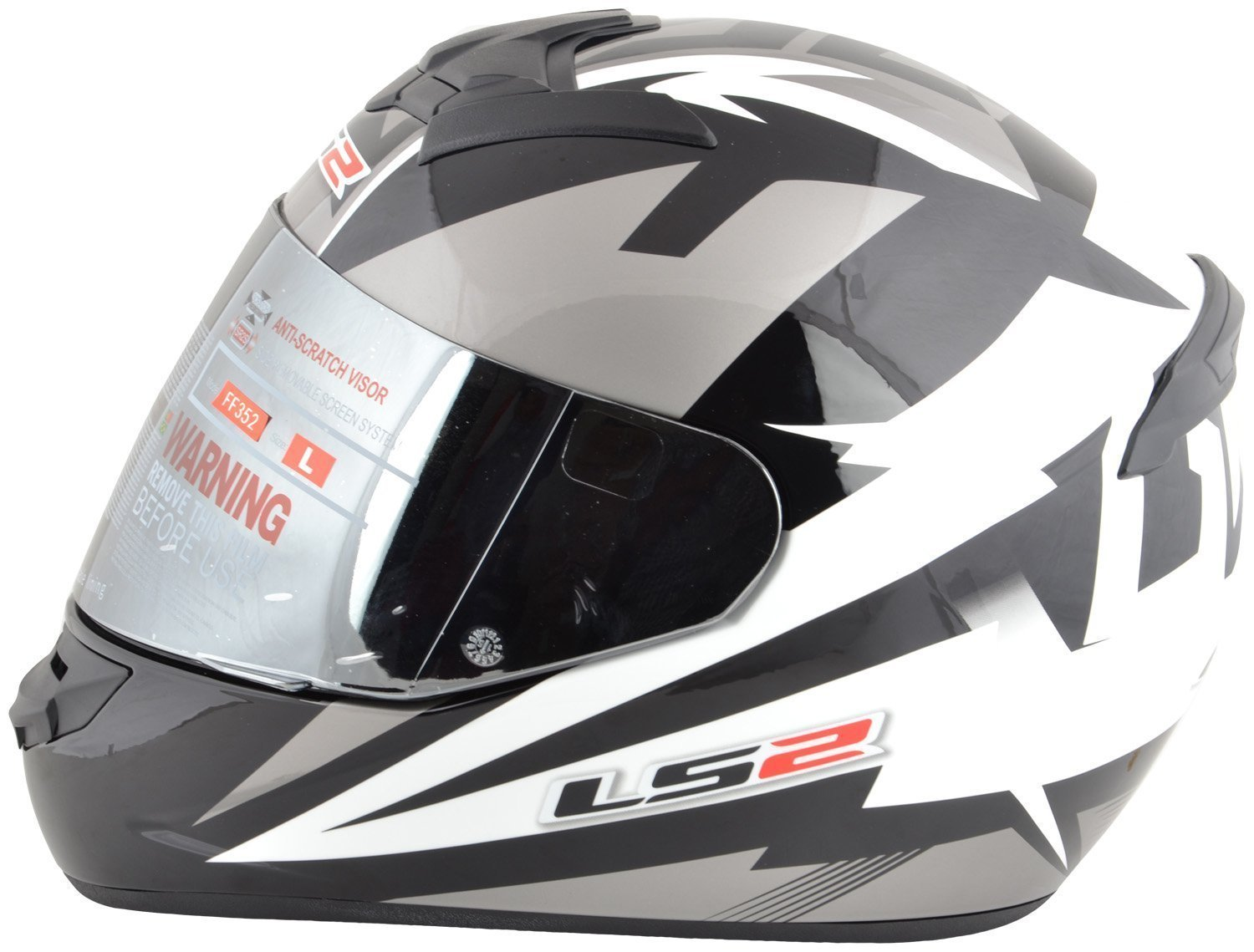 484a3bebc23 LS2 DYNO Full Face Helmets (White and Black, X-Large): Amazon.in: Car &  Motorbike