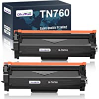OfficeWorld Compatible Toner Cartridge Replacement for Brother TN760 TN-760 TN730 for MFC-L2710DW HL-L2395DW HL-L2370DW…