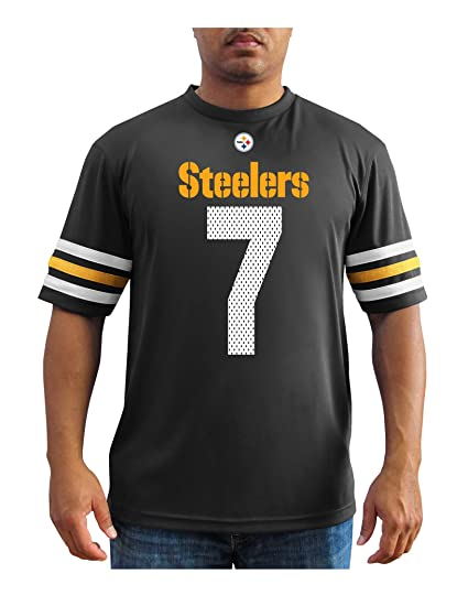 VF LSG NFL Pittsburgh Steelers Ben Roethlisberger Men s 7 Great Game  Fashion Top 17516f8d7
