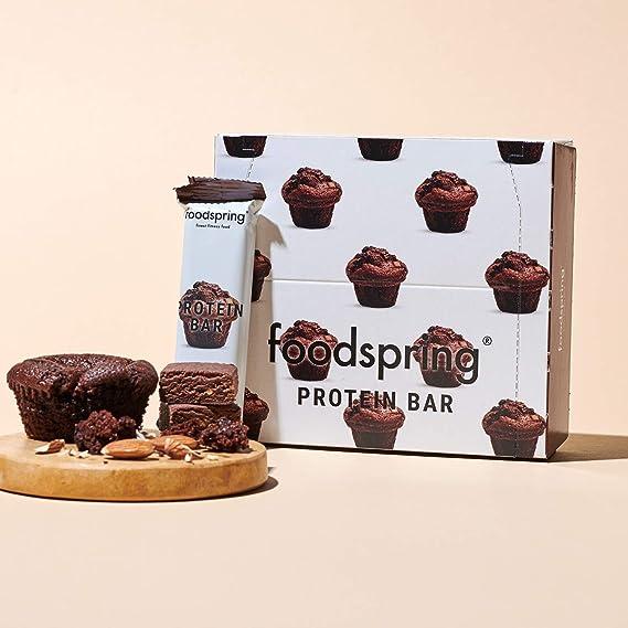 foodspring Barritas de Proteína, Muffin de Chocolate, Pack de ...