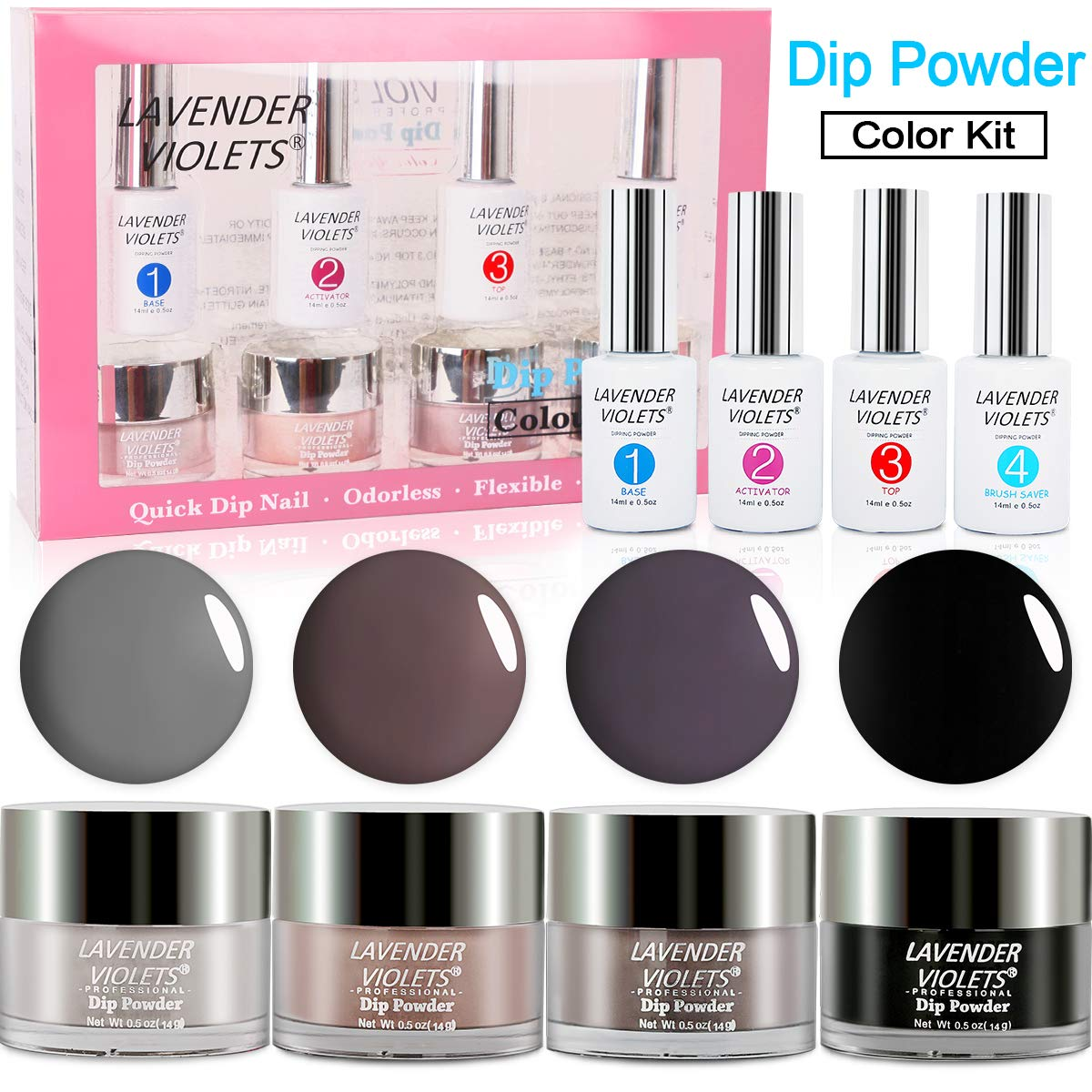 Dip Powder Nail Kit Acrylic Dipping Powder Set 761 by Lavender Violets