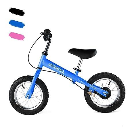 Lonlier Bicicleta para Niños sin Pedales Asiento y Manilla Ajustable Bicicleta de Equilibrio