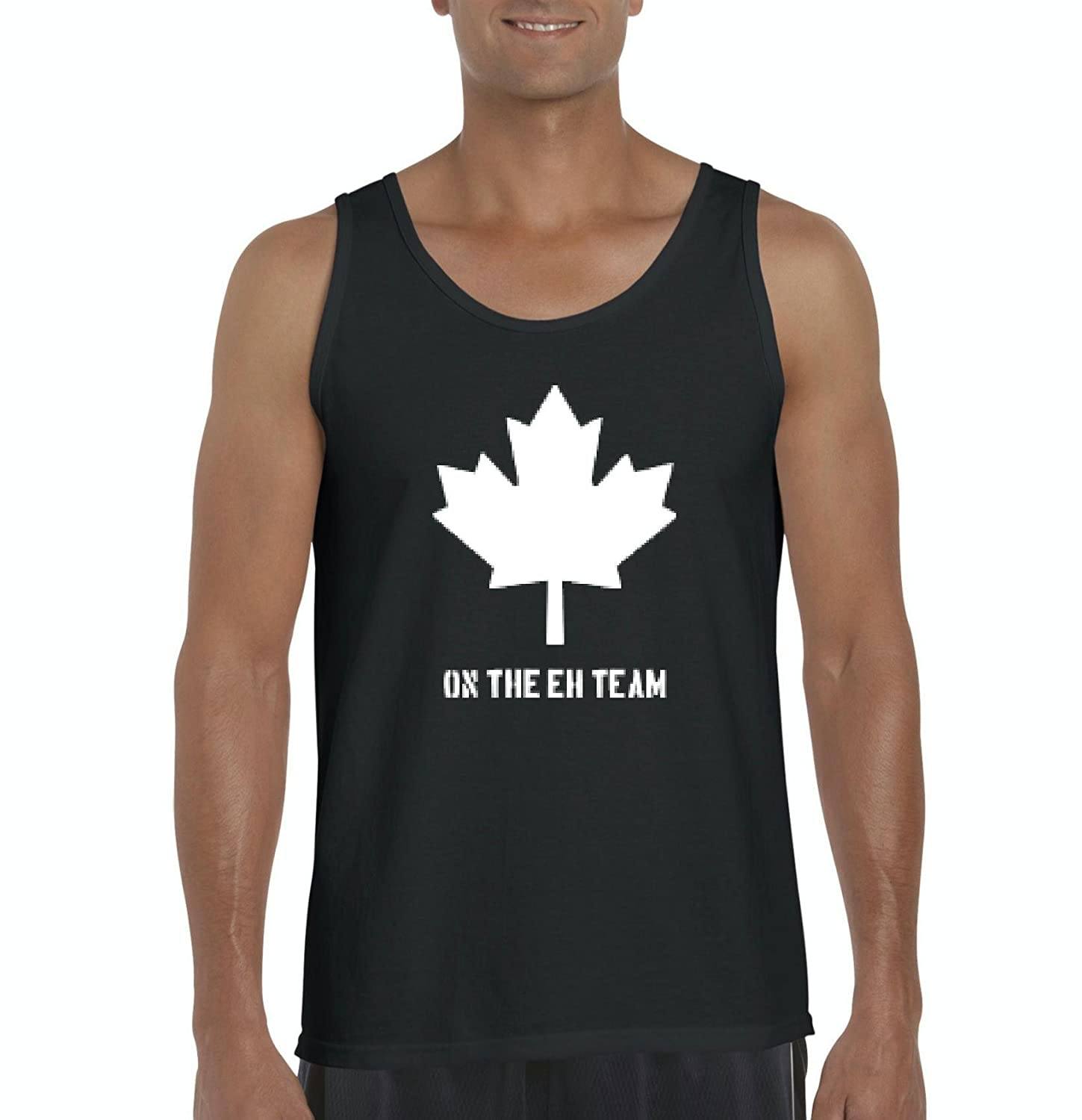 Amazon.com: Ugo On the EH Team in White Canada Maple Canadian Vancouver Tour Map Flag Gift Mens Tank Top: Clothing