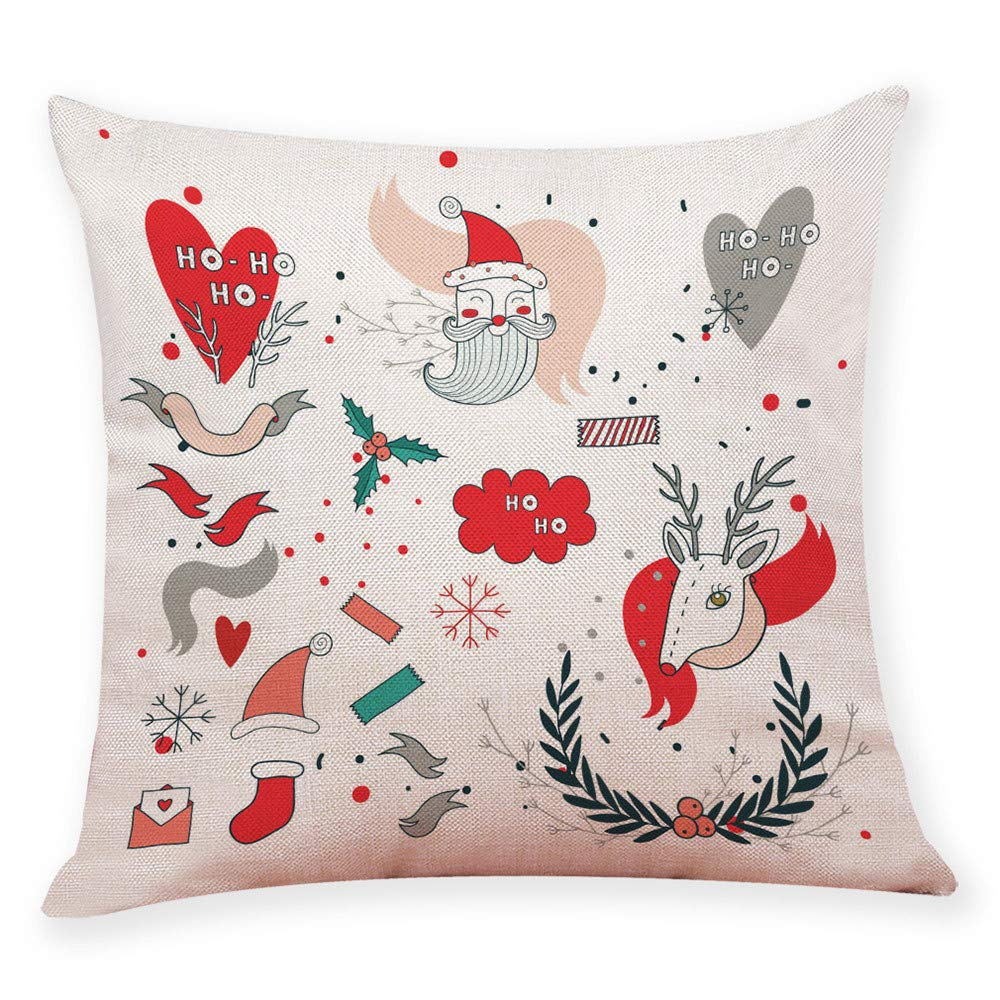 Qisc 18 X 18 Christmas Decorations Pillows Covers Sofa Indoor Outdoor Home Décor for Thanksgiving Day Party Suppliers by Qisc (Image #1)