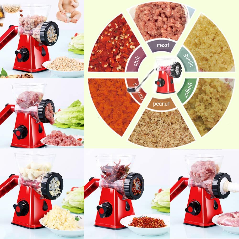 Sausage Stuffer For Sausage Maker Or Hamburger Meat Grinder AllinOne 4-In-1 Meat Grinder And Vegetable Grinder//Mincer