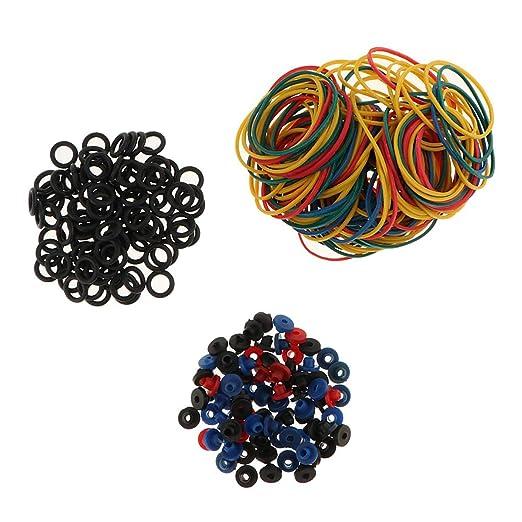 Kit de 300 accesorios de tatuaje de colores con ojales de goma ...