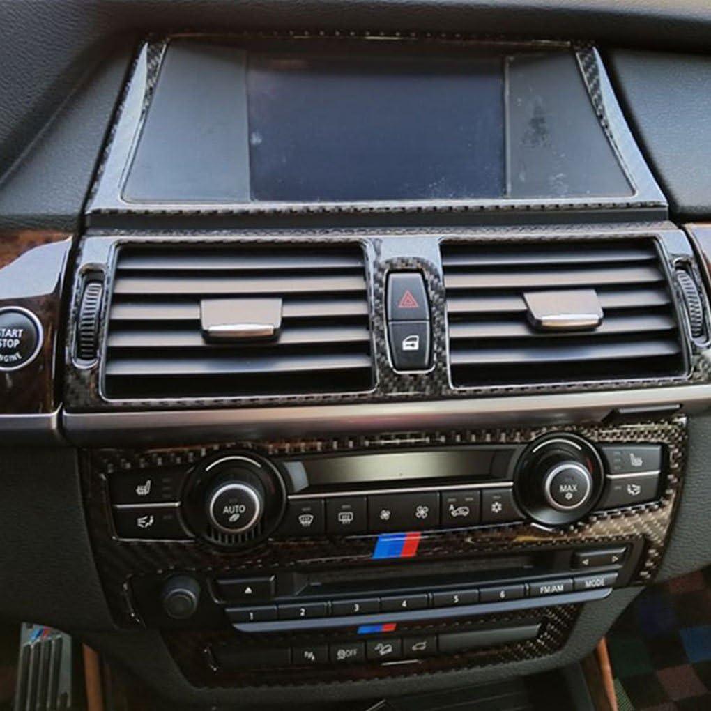 Gnnlor 4pcs d/écalcomanies de d/écoration de Panneau daccoudoir de Porte de Voiture en Verre de fen/être en Acier Inoxydable pour BMW X5 e70 X6 e71 2008 14