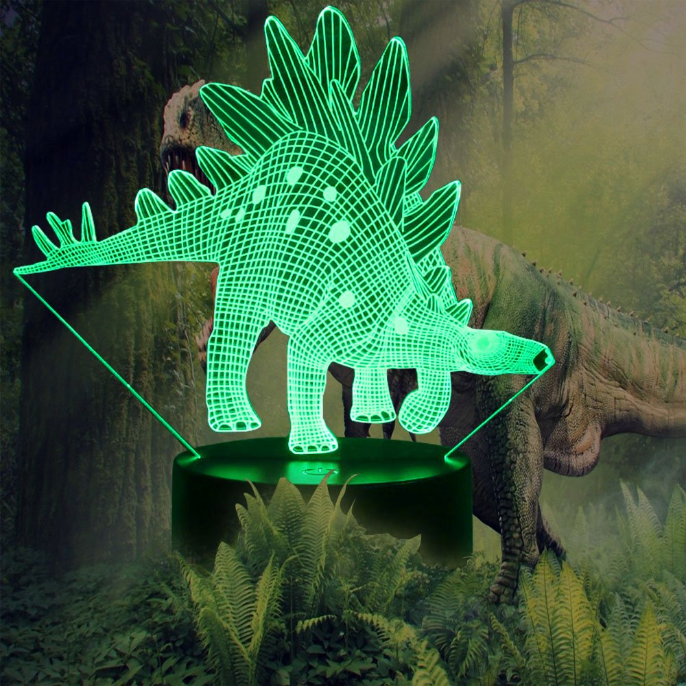 ギフトアイデアナイトライト3dイリュージョンランプ動物ライトLEDデスクランプユニークなギフト赤ちゃんホーム装飾オフィス寝室ウェディングパーティーデコレーション子供部屋照明7色 LLAM03 B07965YJ41 14711 Dinosaur08 Dinosaur08