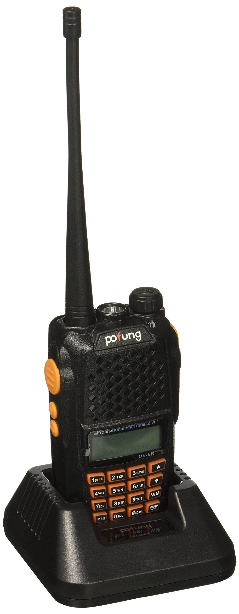 Baofeng Pofung UV-6R Dual-Band Two-Way Radio Transceiver 136-174/400-520MHz High Power 5W/1W, 65-108MHz FM Two-Way Radio