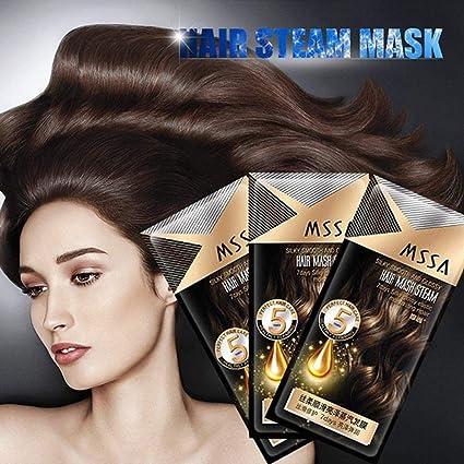 Máscara de pelo de vapor calentado para reparar proteínas de ...