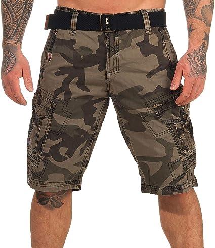 TALLA 3XL. Geographical Norway Cortos Cargo Pantalones Cortos Bermudas Con Cinturón Pantalones cortos Hunter en el Bundle con UD PAÑUELO
