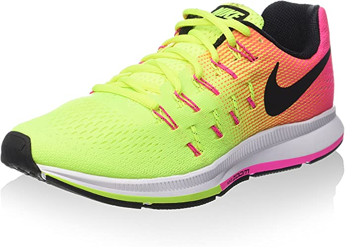 Nike W Air Zoom Pegasus 33 OC, Zapatillas de Running para Niñas, Negro (Negro (Multi-Color/Multi-Color), 35 1/2 EU: Amazon.es: Zapatos y complementos