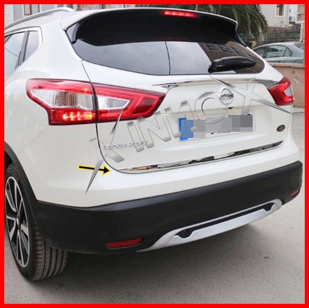 Nissan Qashqai J11 Chrom Hinten Trunk Trim Bezug 1 S Stahl 2014onwards Auto