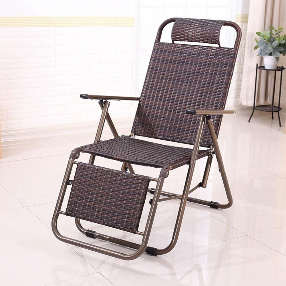 MoMo Klappstuhl Ruhesessel Bürostuhl Nachmittag Stuhl Lazy Chair Alter Stuhl Außenrattan Stuhl Freizeit Strand Stuhl (Farbe Optional),GG