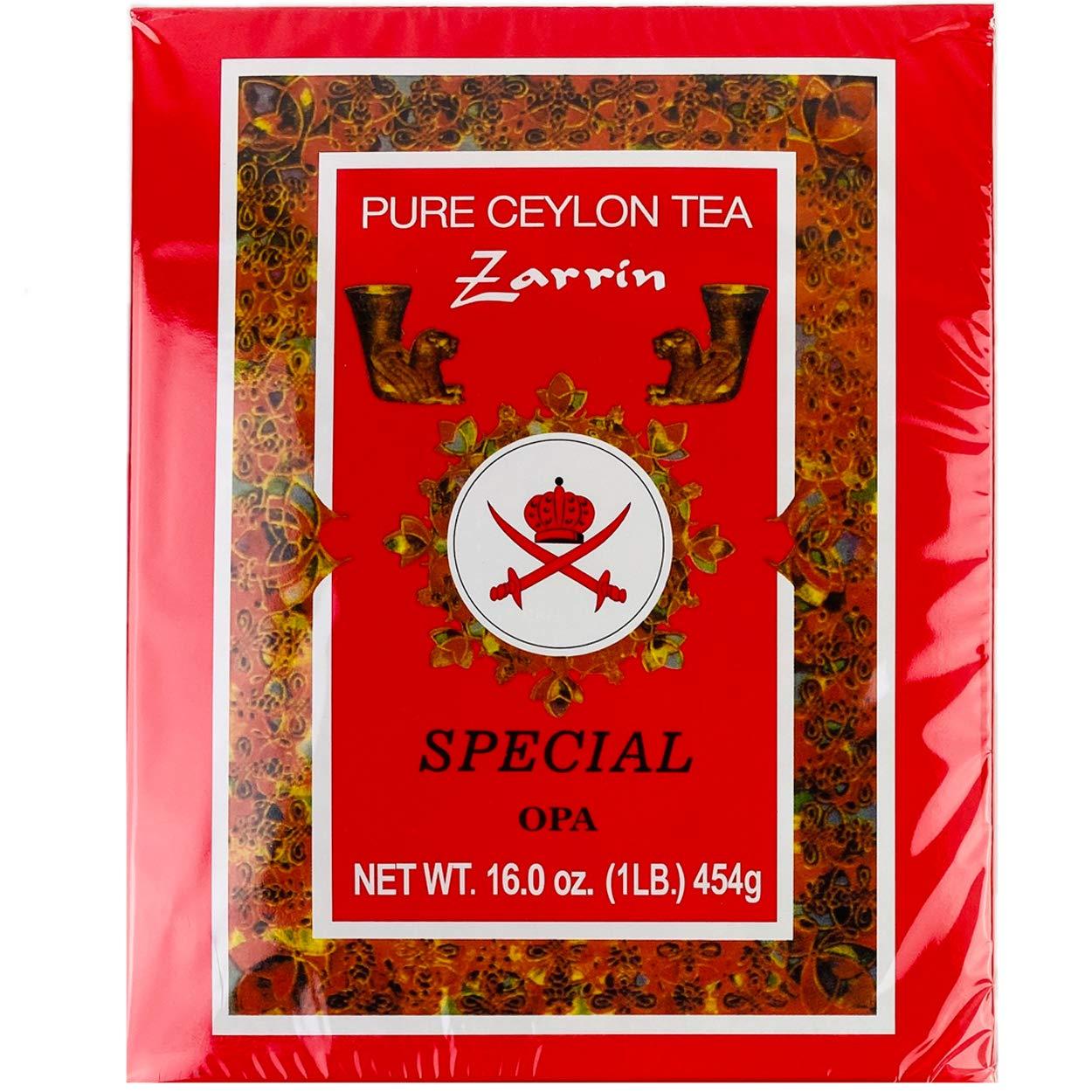 Zarrin - Pure Ceylon Tea OPA, Orange Pekoe A, 1LB (454g)