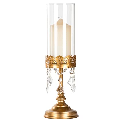 Amazon Amalfi Dcor Sophia Antique Gold Metal Candle Holder