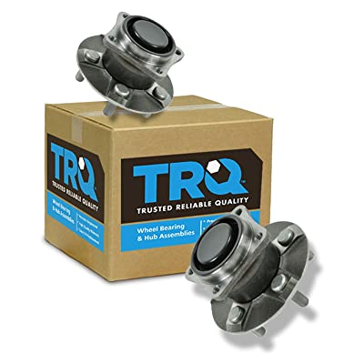TRQ Rear Wheel Bearing & Hub Assembly Pair Set for Matrix Corolla Celica Vibe: Automotive