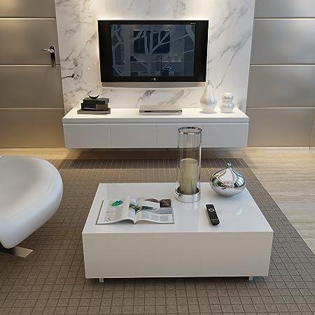 Tuff Concepts Coffee Table High Gloss Modern Living Room Side Table