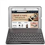 iPad Pro 9.7 Tastiera, iEGrow F8Sro Senza Fili Bluetooth iPad Pro 9.7 (2016 rilasciato) Tastiera Custodia ITA Cover con 7 Colori Retroilluminato a LED Protettiva Tastiera [Layout Italiano QWERTY] Nero