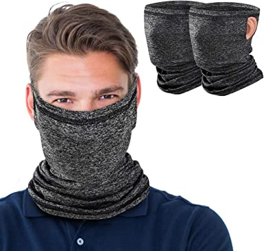 Cooling Neck Gaiter with Ear Loops Bandana Face Mask Scarf Mouth Cover Sun Dust Protection Balaclava for Women Men