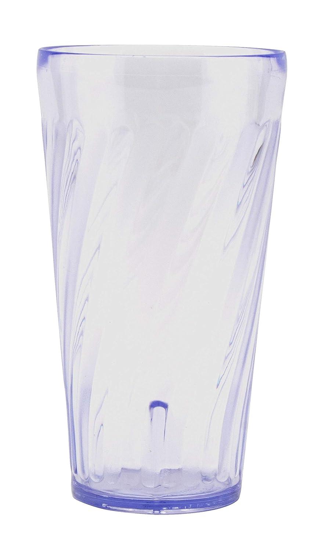 G.E.T. Enterprises 2232-1-BL Blue 32 oz. Plastic Tahiti Tumblers (Pack of 4)
