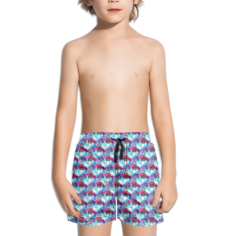 Ouxioaz Boys Swim Trunk Summer Flamingo Gift Pink Beach Board Shorts