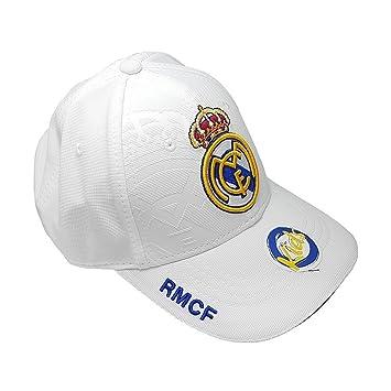 Casquette RMCF Real Madrid Junior Enfant Blanche réglable par scratch  2017-2018 1ère équipe Officiel  Amazon.fr  Sports et Loisirs 9e1610209d8