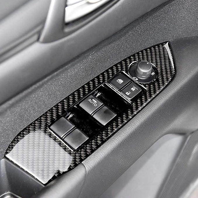 Lorsoul Carbon-Faser-Fenster-Schalter Button Panel Abdeckung Trim Set replacemnt f/ür CX CX5 CX5 2017-2018 5