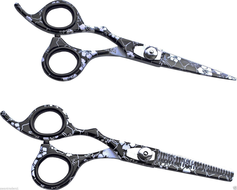 Awans Left Handed Hairdressing Barber Salon Scissors, Lily Pattern 5.5-Inch B00PQOEBJ6