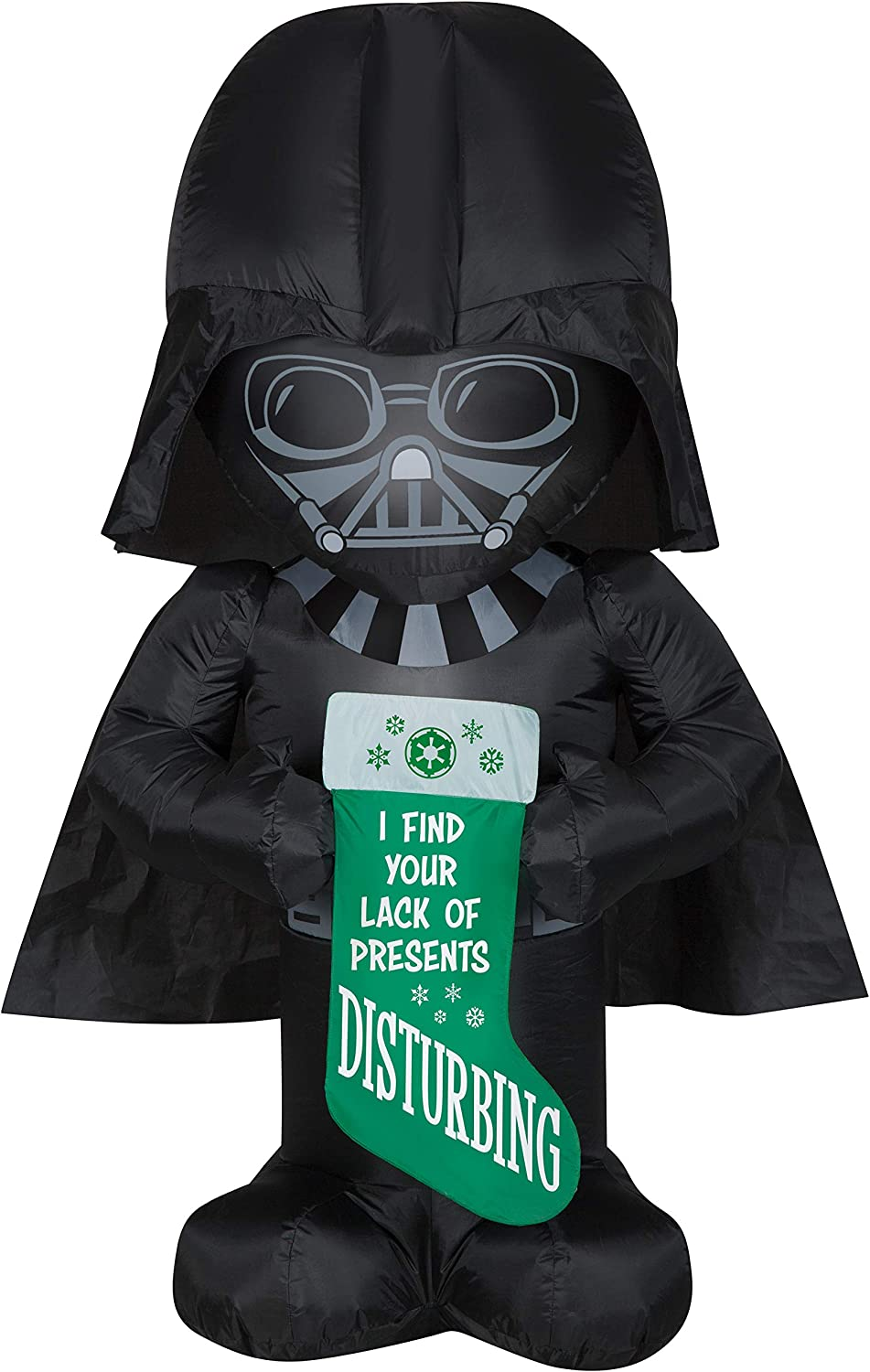 Gemmy 5Ft. Tall Star Wars Darth Vader Holding Stocking Christmas Airblown Inflatable Indoor/Outdoor Decoration