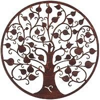 Mural árbol de la Vida exótico en óxido