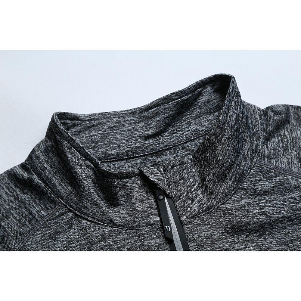 FELiCON Camiseta de Manga Larga con Cremallera para Hombre Camiseta de Calentamiento de Secado r/ápido Camiseta Deportiva de Running con Jogging Top Camiseta de Hombre Ropa Deportiva
