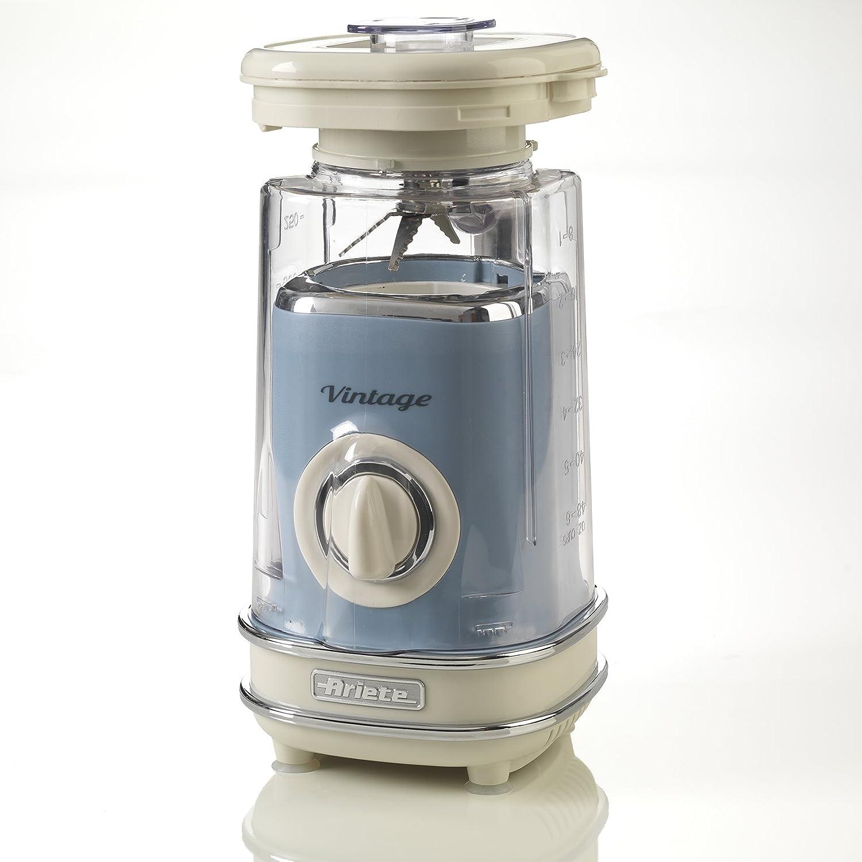 Ariete 568/05 Batidora de vaso vintage, 500 W, 1.5 litros, plástico, 2 Velocidades, Azul