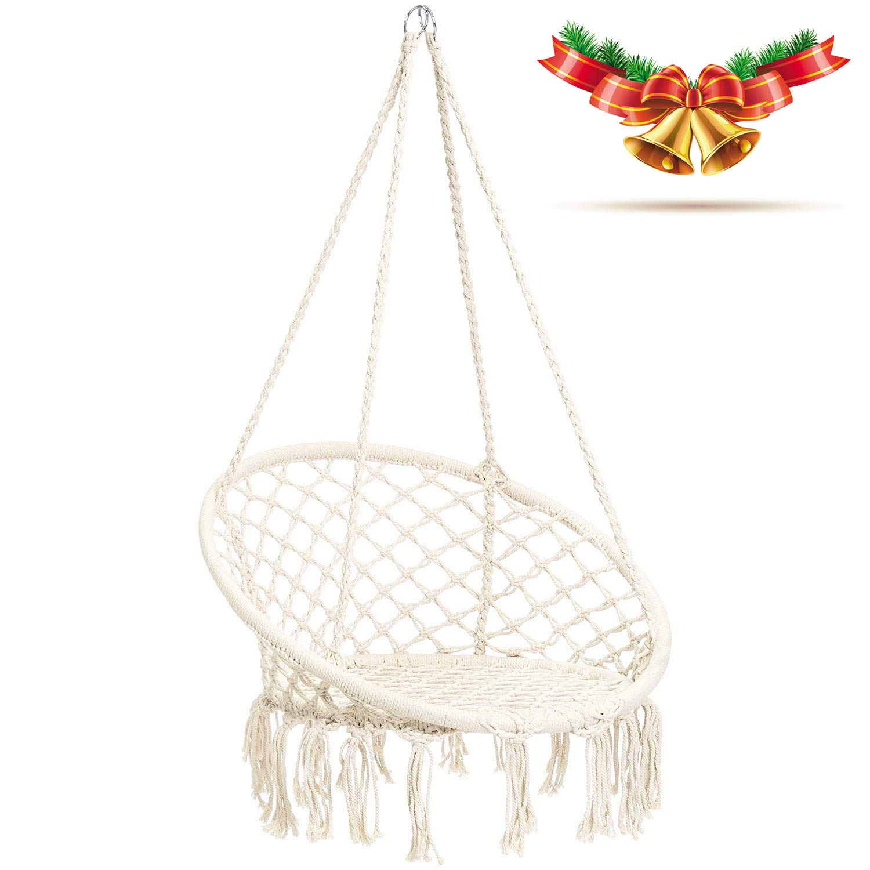 CCTRO Hammock Chair Macrame Swing,Boho Style Rattan Chair Hanging Macrame  Hammock Swing Chairs For Indoor/Outdoor Home Patio Porch Yard Garden  Deck,265 ...
