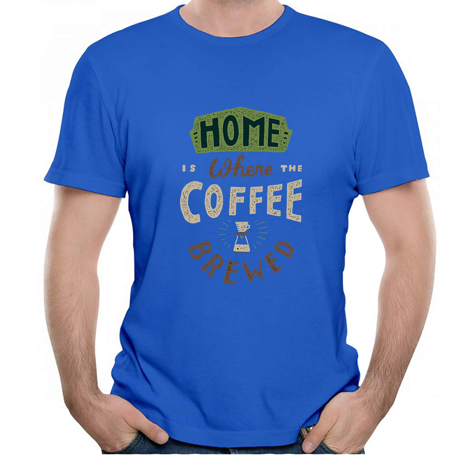 Jackdona Home Coffee Brewed Graphic Unisex S T Shirt 3409