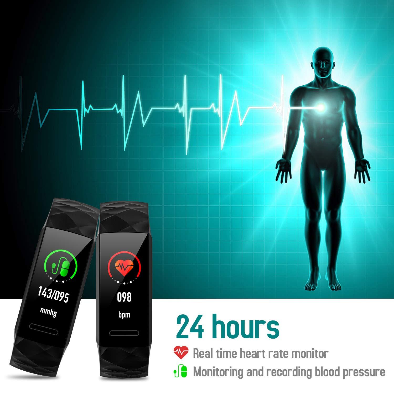 HETP Pulsera de actividad Inteligente Reloj Pulsómetro Hombre Mujer Medidor Presión Arterial reloj de actividad Sueño GPS Impermeable IP67 Reloj Podómetro ...