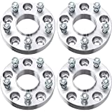 """PUENGSI Wheel Spacer 1.25 inch 5x5 to 5x5/5x127mm to 5x127mm 4PCS Thread Pitch 1/2"""" Hubcentric Wheel Spacers fits for Jeep Wr"""