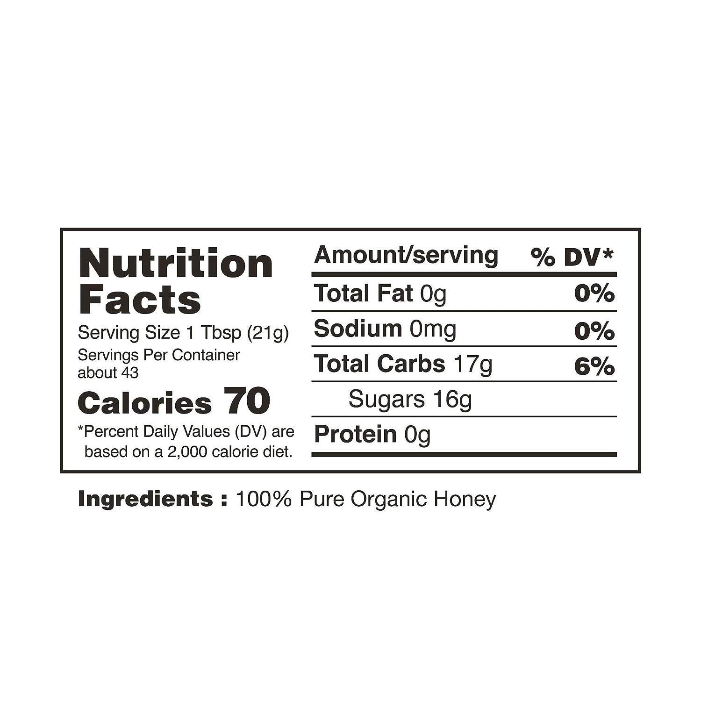 Nature Nates 100% miel pura, cruda y sin filtrar (32 onzas ...