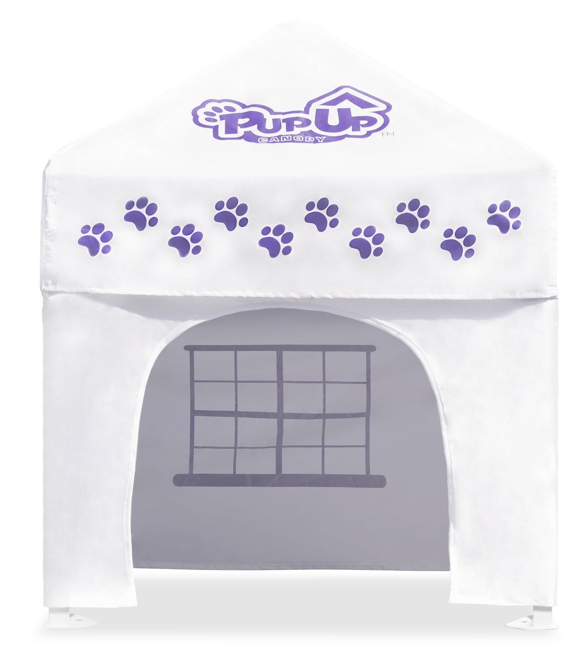 PupUp Canopy Instant and Portable Dog House and Shelter, White/Purple, Small by Caravan Canopy