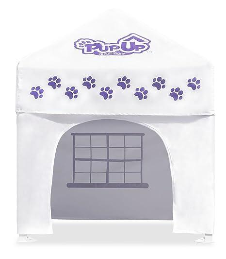 Caravan mundial pup03010 pupup toldo – Caseta de perro, grande, blanco/Morado