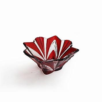Amazon.com | Fifth Avenue Crystal Aurora Bowl, Large, Ruby: Serving ...