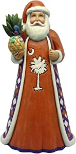 "Enesco Jim Shore Heartwood Creek South Carolina Santa, 7.25"" Stone Resin Figurine Multicolor"