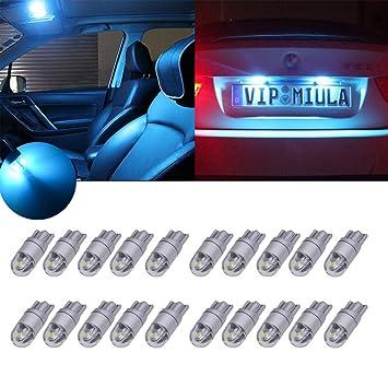 TUINCYN T10 3030 2SMD Bombilla LED de cuña azul hielo de repuesto para interior de coche