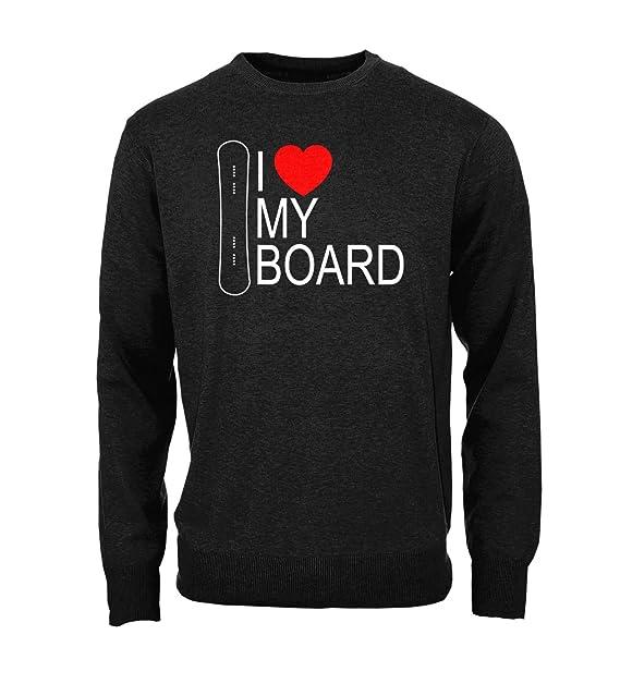 I Love My Board Snowboarding Extreme Winter Sports Snow Hombres Camisa de entrenamiento Pullover: Amazon.es: Ropa y accesorios