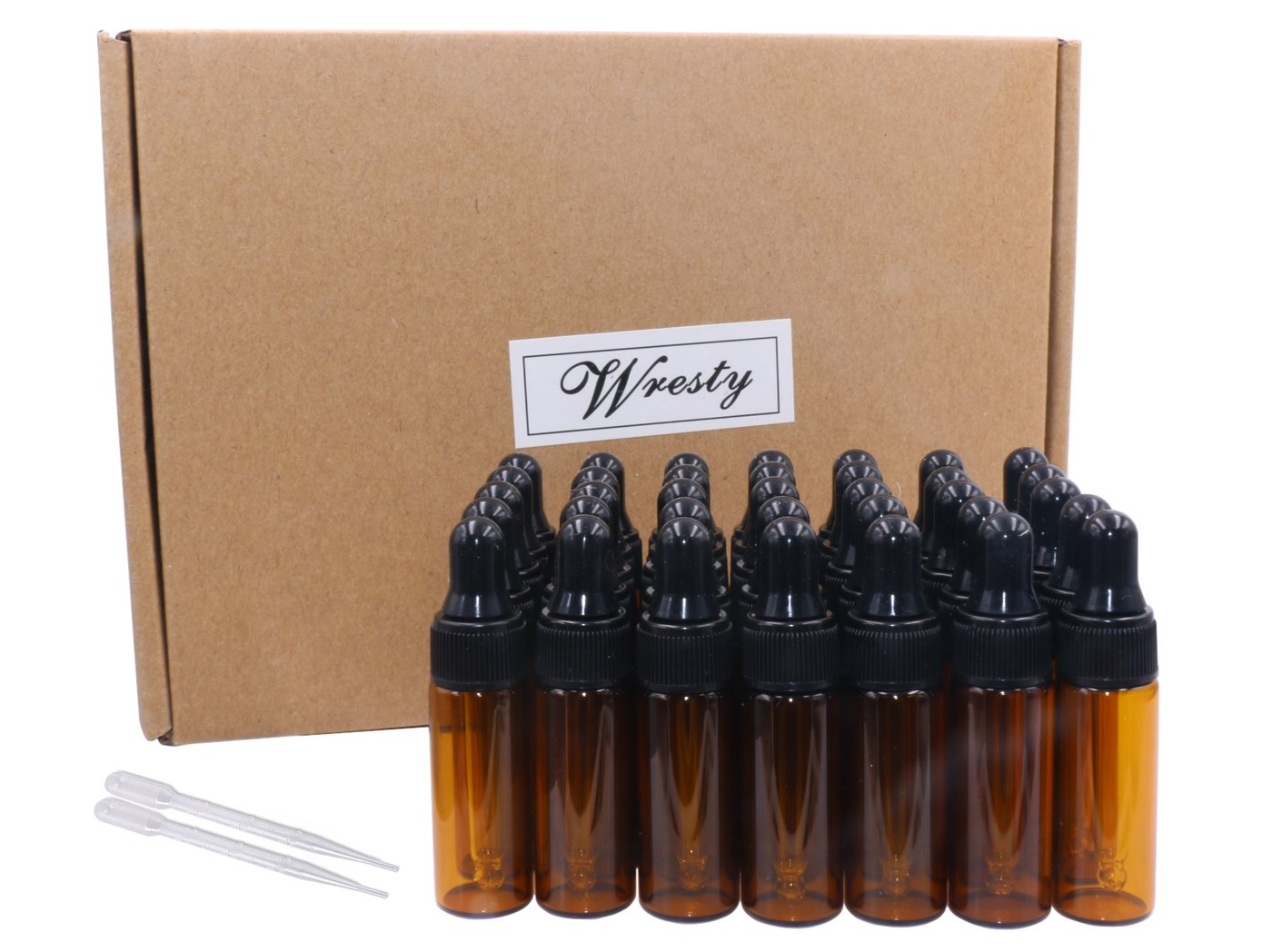 5ml Amber Glass Dropper Bottles 35 Pcs Essential Oil Bottle Perfume Liquid Sample Vials With Glass Eye Dropper, With Free Droppers Wilotick