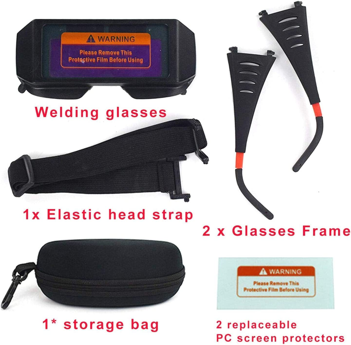 ZOZOSEP con 2 Protectores de Pantalla de PC reemplazables Gafas de Seguridad de oscurecimiento LCD autom/ático Gafas de Soldadura con energ/ía Solar M/áscaras de Soldadura para Soldador M/áscara